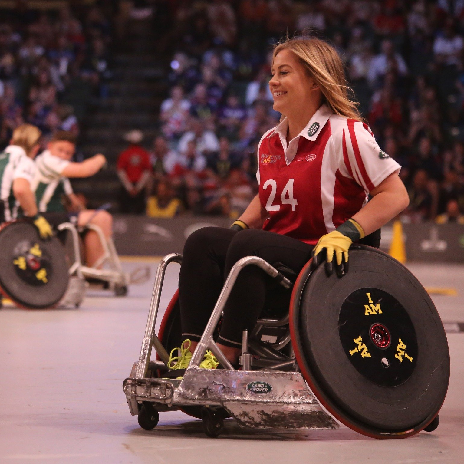 Sports person in wheelchair