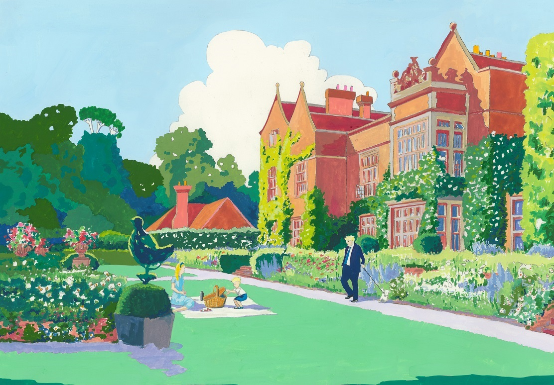 Mary Casserley Chequers painting