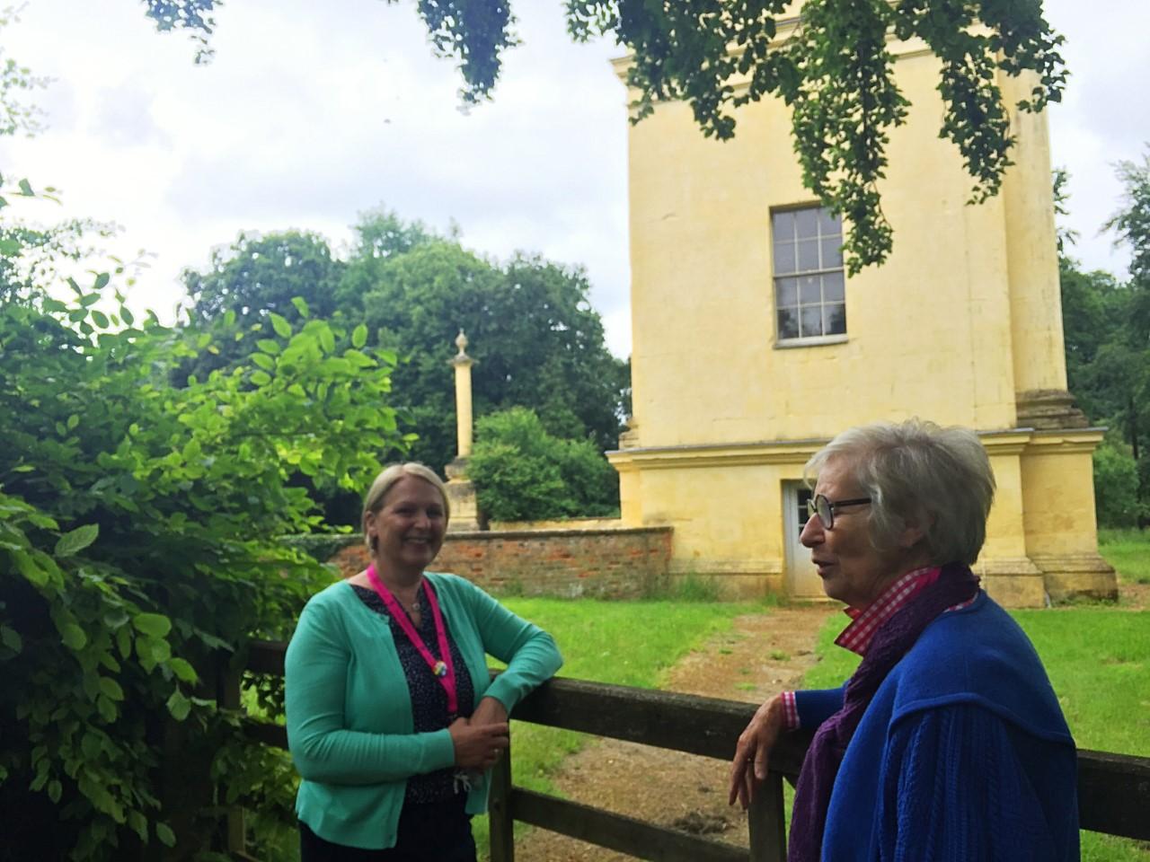 People in Stowe garden